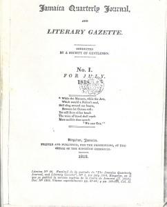 Portada del Jamaica Quarterly Journal... que contiene la traducción de la Carta de Jamaica